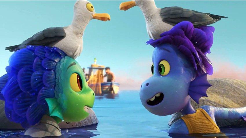 Морские монстры ругаются на итальянских старушек во втором трейлере мультфильма «Лука»